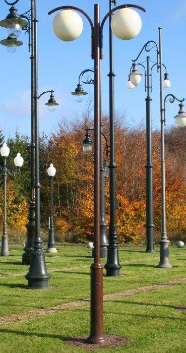 latarnia współczesna podwójna kula