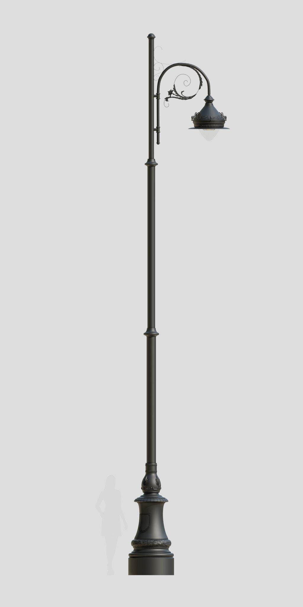 ekskluzywna latarnia uliczna, latarnia LED, oświetlenie miejskie, królewska latarnia