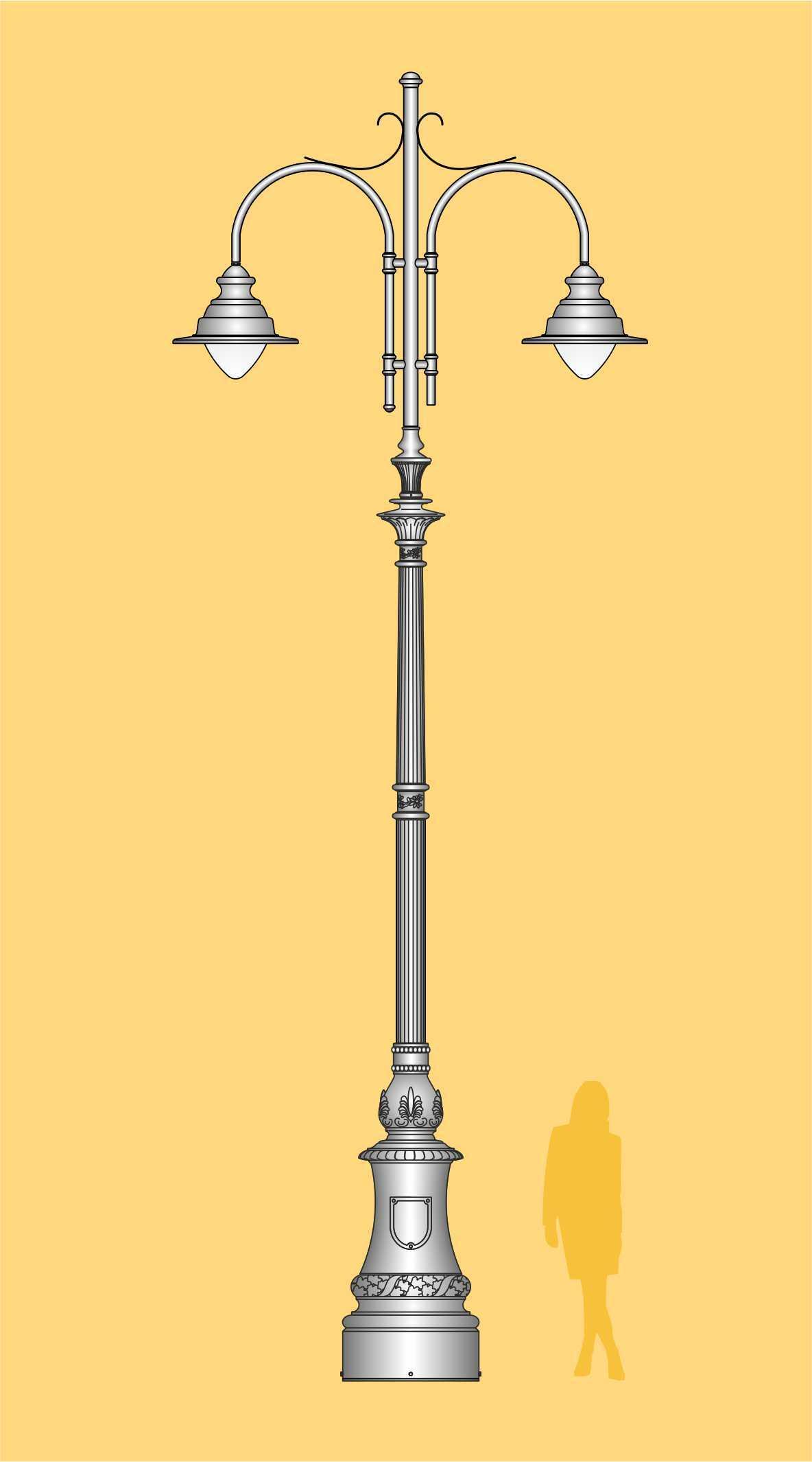 ekskluzywna latarnia miejska, oświetlenie uliczne, oprawy LED, klasyczne latarnie