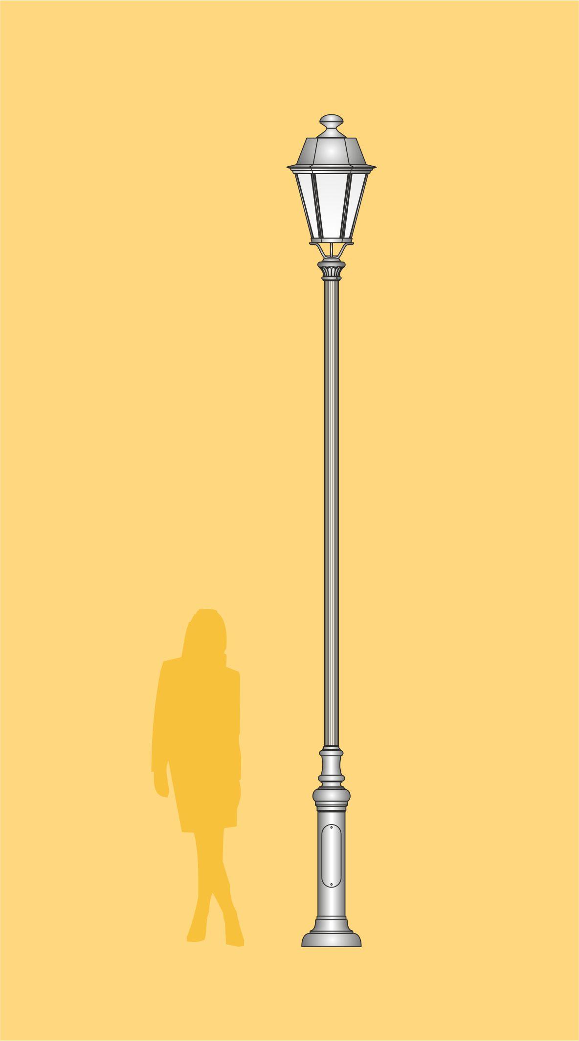 stylowa latarnia, latarnia parkowa, latarnia LED