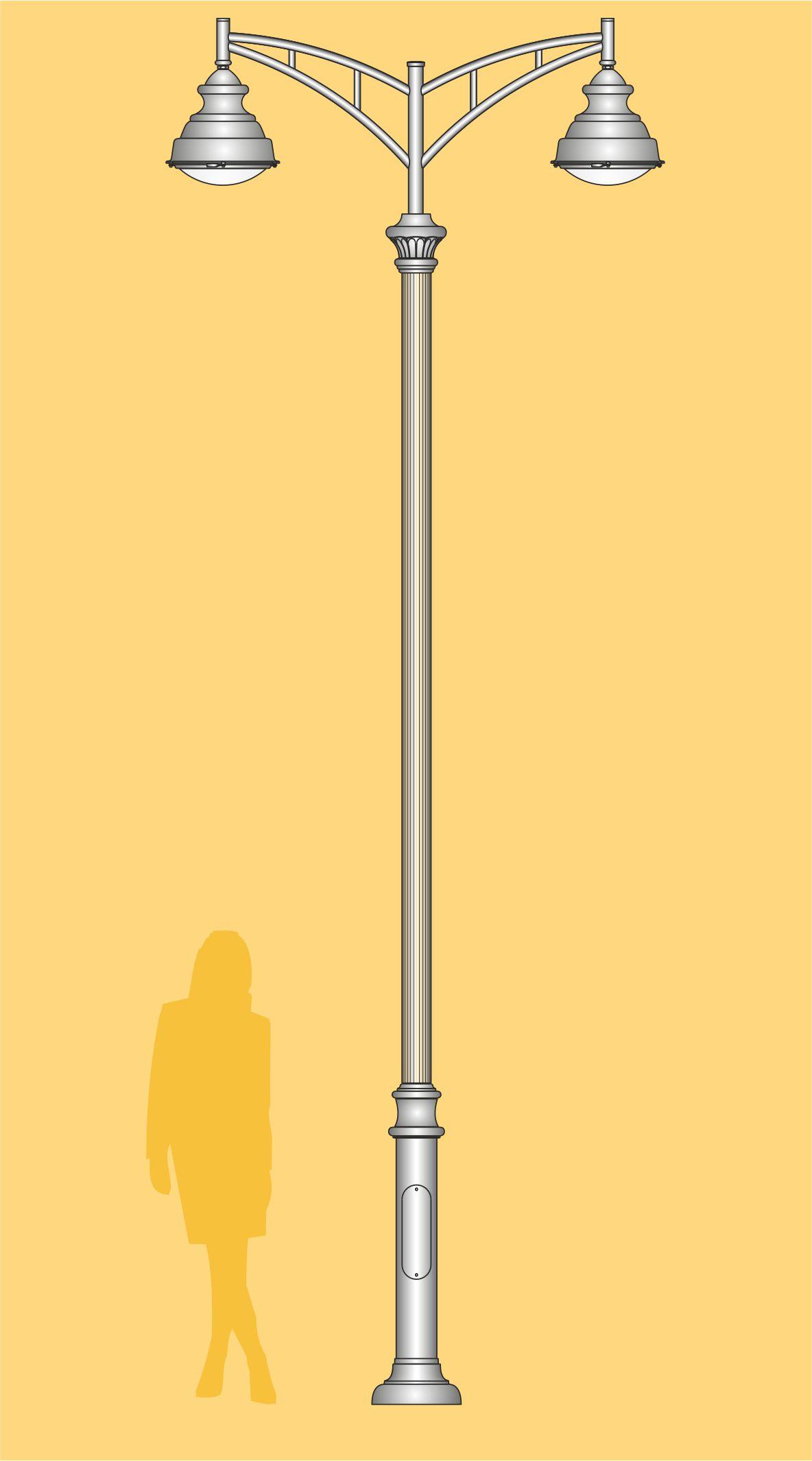 latarnia uliczna, latarnia stylizowana, oprawy LED, oświetlenie uliczne, oświetlenie LED, latarnia miejska