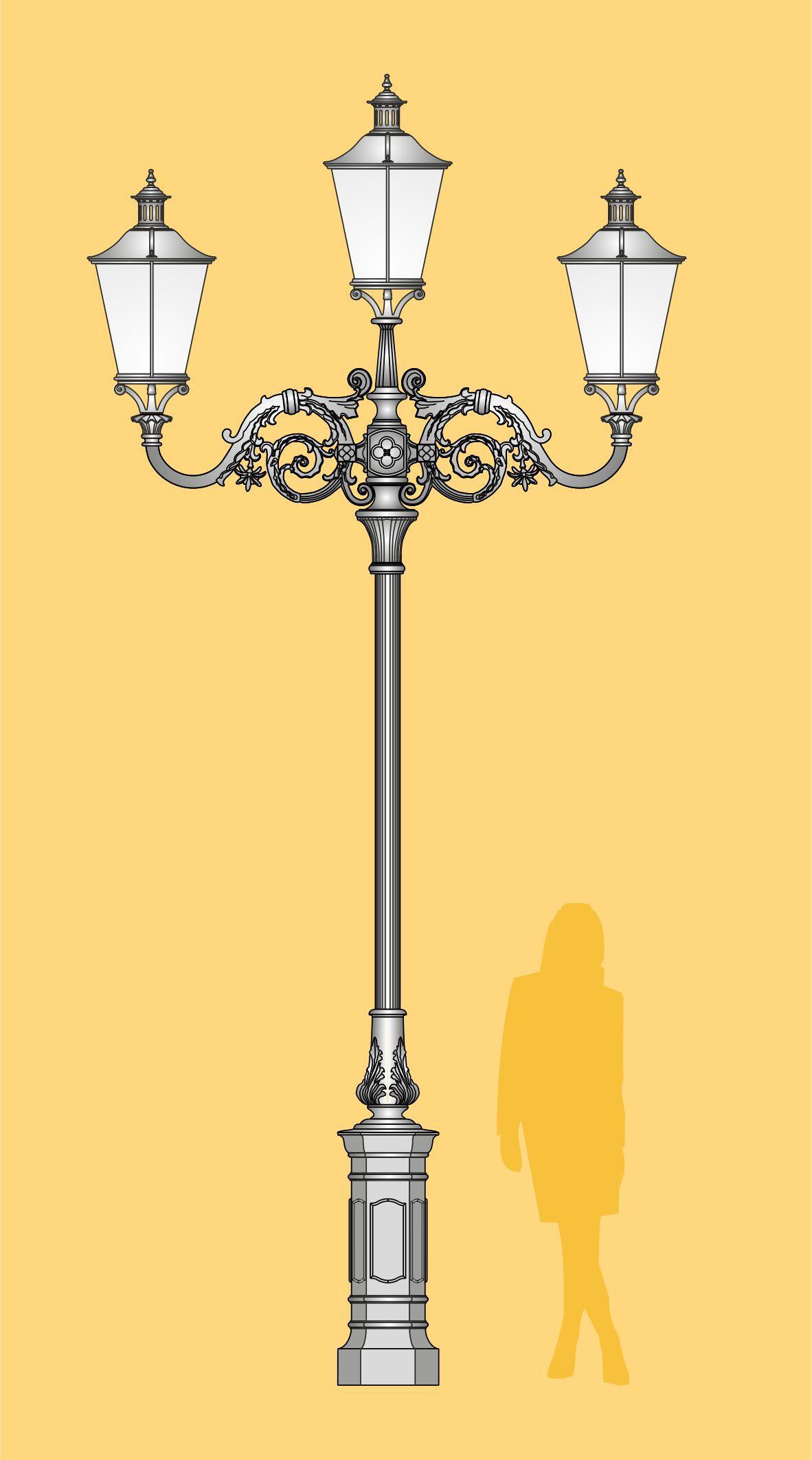 latarnia stylowa, ekskluzywna latarnia LED, stylowa latarnia uliczna